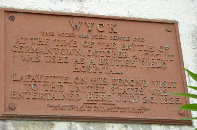 Wyck has a long and eventful history in Germantown, north of Philadelphia, PA