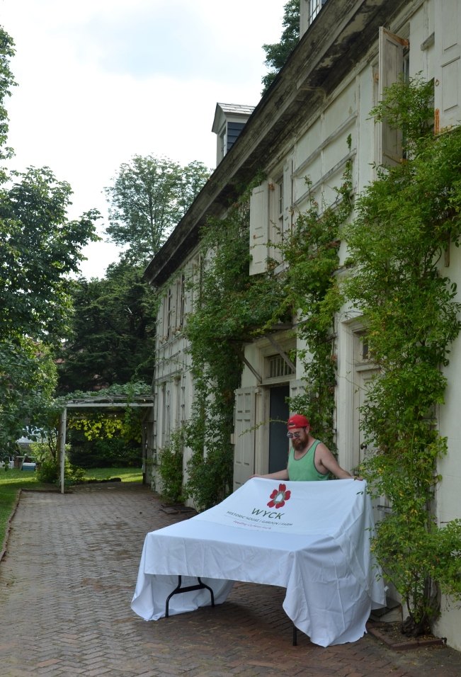 Wyck house in Germantown. Today was the second in their series of four festivals. I gave a lecture on Jane Bowne Haines II whose family lived at Wyck. Jane was the founder of the Pennsylvania School of Horticulture for Women that is now Temple University Ambler.